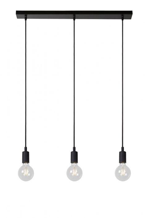 Artikel 12080 Een bijzonder knap design met drie zichtbare lichtpunten. Deze hanglamp combineert drie snoeren voor een strakke, hedendaagse look. De lampen hebben één groot doel: licht, sfeer en gezelligheid creëren. https://www.rietveldlicht.nl/artikel/hanglamp-12080-modern-zwart-mat-kunststof-metaal