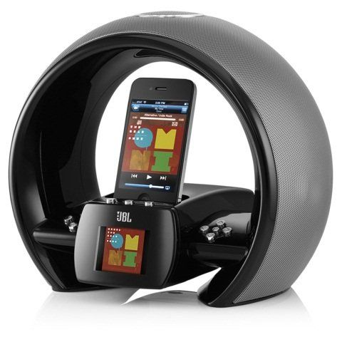 jbl on air wireless iphone ipod airplay speaker dock with fm internet radio dual alarm clock. Black Bedroom Furniture Sets. Home Design Ideas