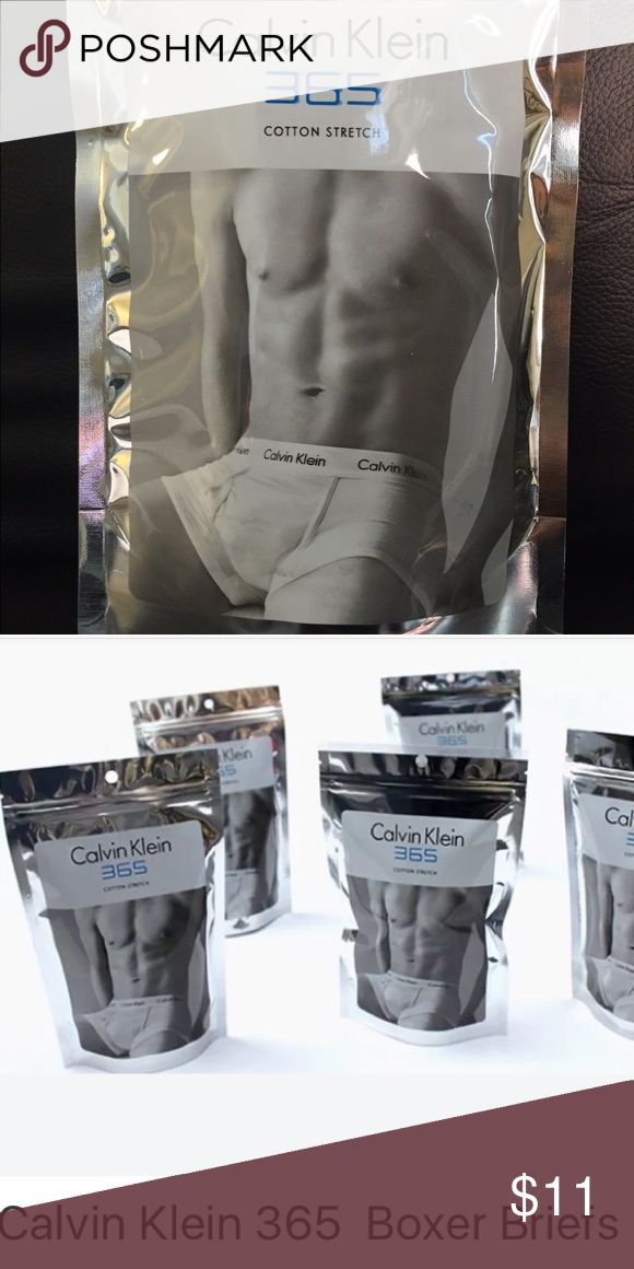 Calvin Klein 365 Boxer Briefs Black Medium Cotton blend boxer briefs. New without tags. One per sealed package, unopened. Solid black. Calvin Klein Underwear Underwear & Socks Boxer Briefs