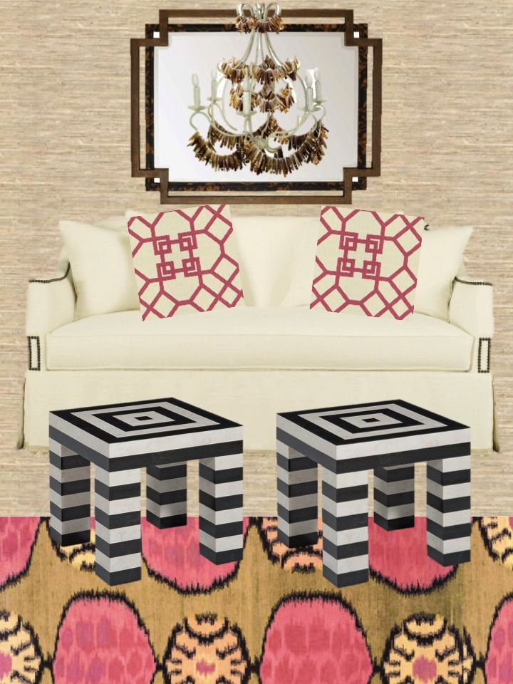 Camila Pavone of Effortless Style arranges Pretty in Pink Meets Boho Sitting Room