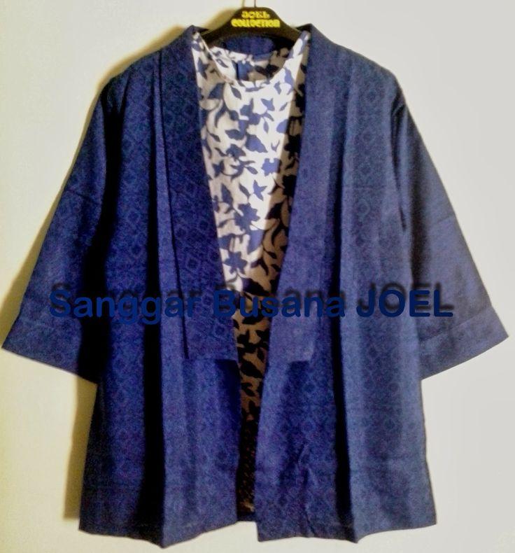 Semi Blazer Batik Embos Biru (Variasi Inner Batik ...