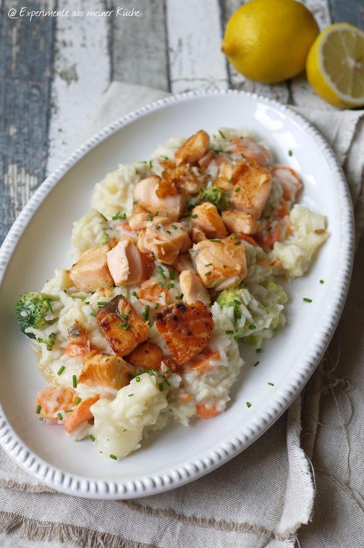 Experimente aus meiner Küche: Lachs-Frikassee mit Reis