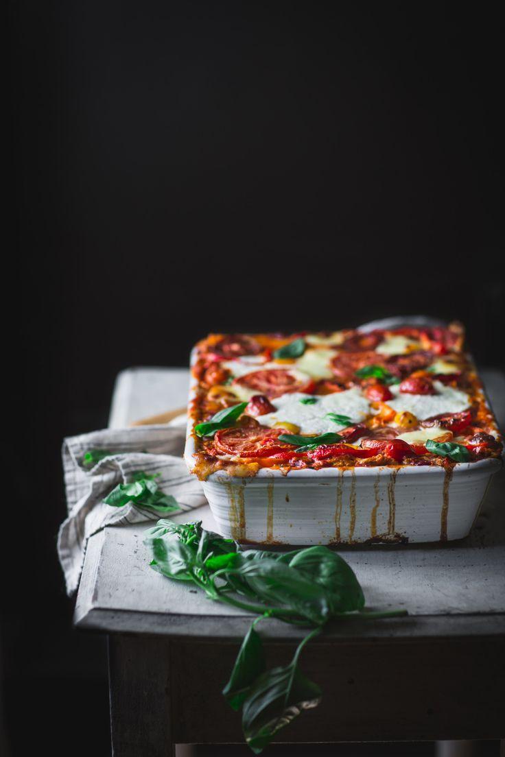 Easy Sweet Bell Pepper Lasagna http://adventuresincooking.com/2017/08/easy-sweet-bell-pepper-lasagna.html