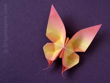 Origami Swallowtail Butterfly by Evi Binzinger: Click through for the excellent video tutorial. #Origami #Butterfly
