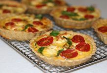 Chickpea Crusted Spinach and Feta Tarts