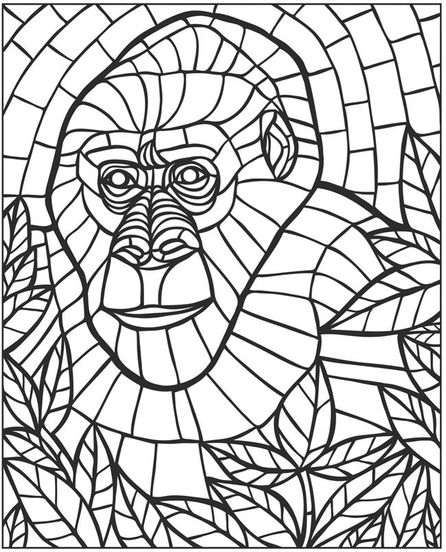 creative haven animal mosaics coloring book by jessica mazurkiewicz dover publications page 5