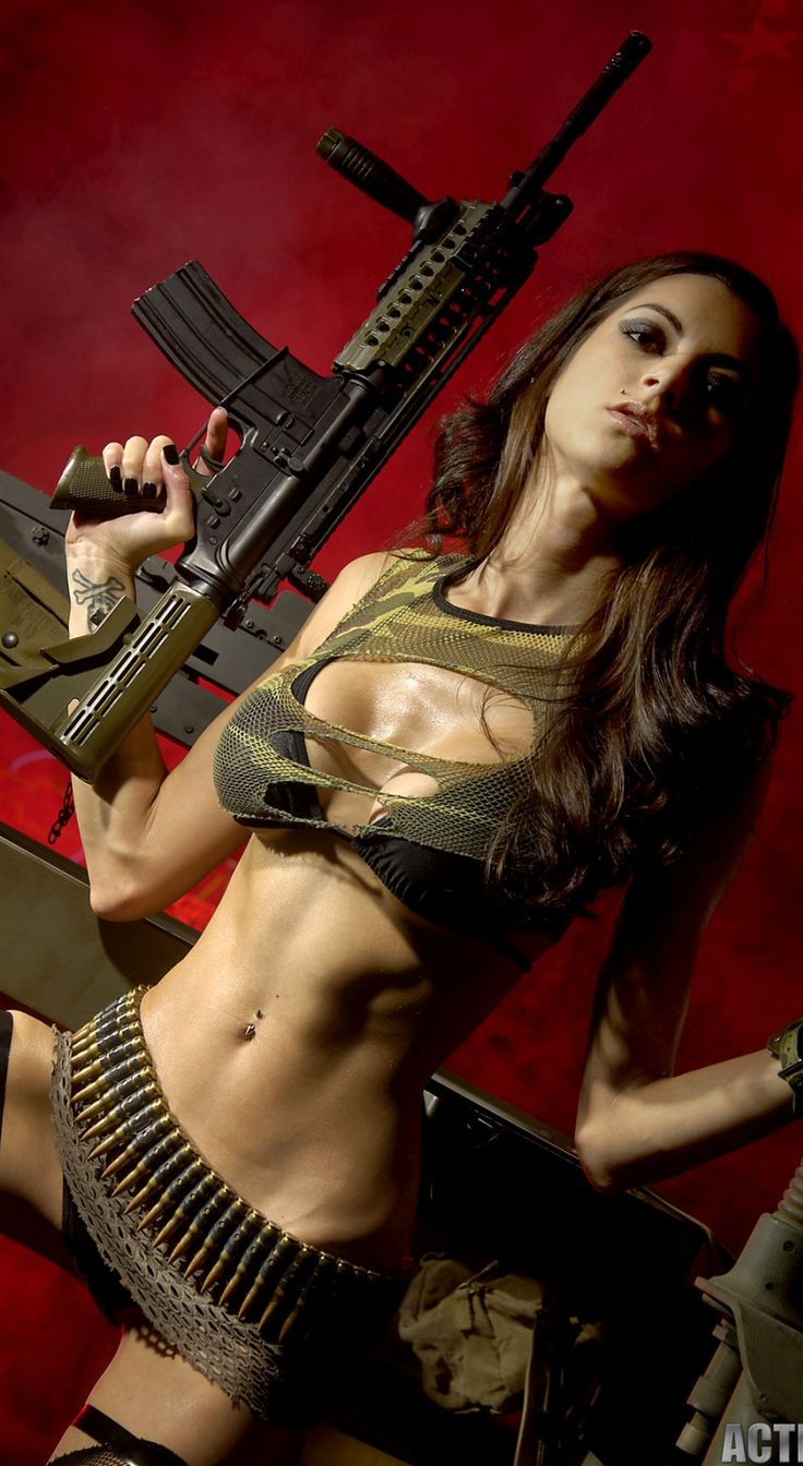 Absurd situation bad girls with guns agree