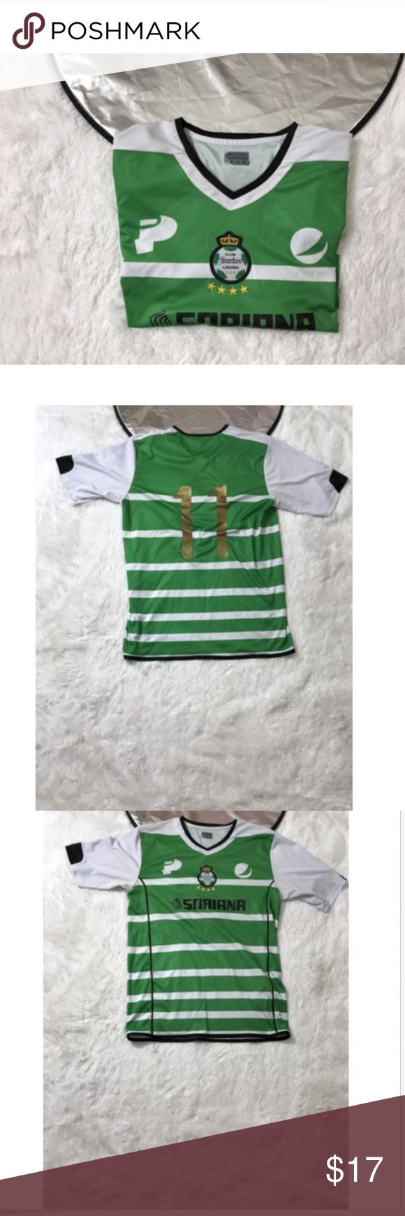 Club Santos Laguna REPLICA Jersey Soccer Jersey Club Santos Laguna REPLICA Jersey Soccer Jersey #11 Mens Size Medium   Please see picture for full details  ships fast and safe! santos Shirts Tees - Short Sleeve