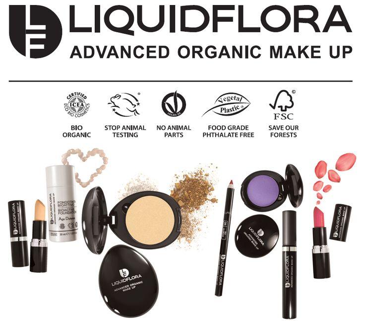 Liquidflora biologische make-up #natuurcosmetica #vegan #glutenvrij Primeur in de Benelux, exclusief bij Druantia!