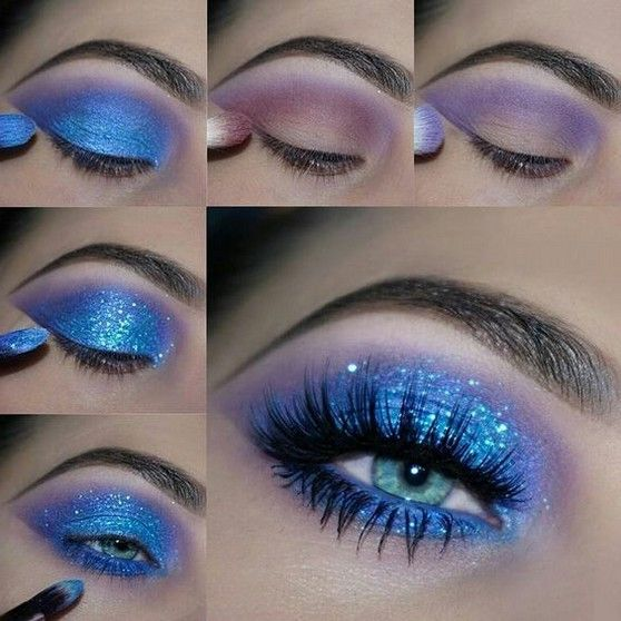 60+ Best Eyecatching Blue Glitter Eyeshadow Makeup Ideas You May Love