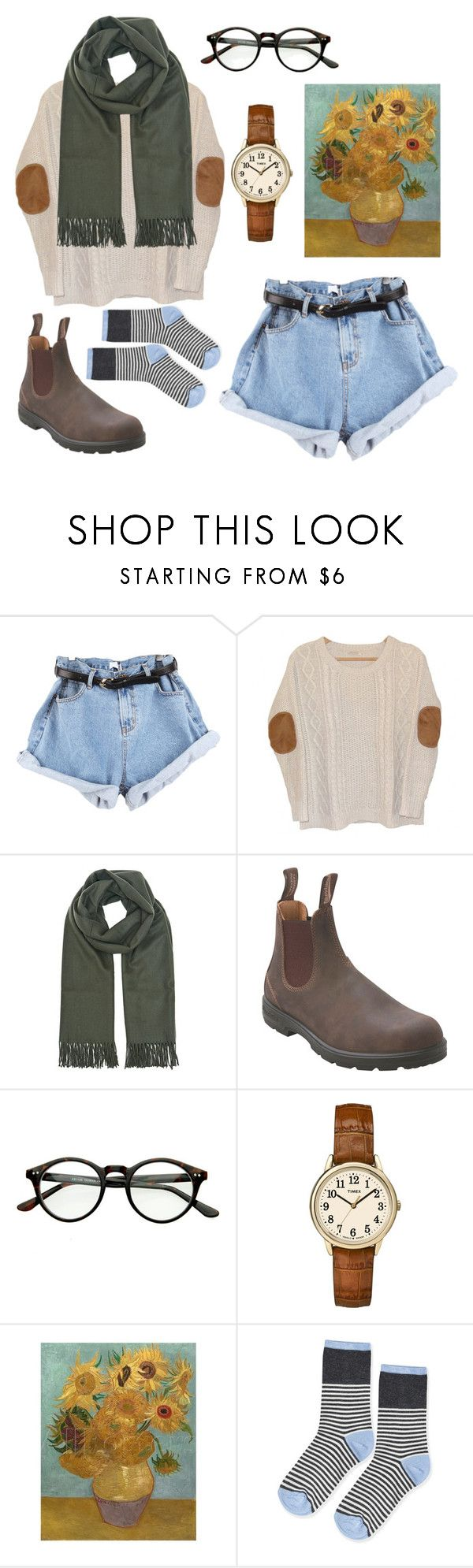 """Untitled #32"" by sbolger ❤ liked on Polyvore featuring Urban Outfitters, Blundstone, Timex, Topshop, women's clothing, women's fashion, women, female, woman and misses"
