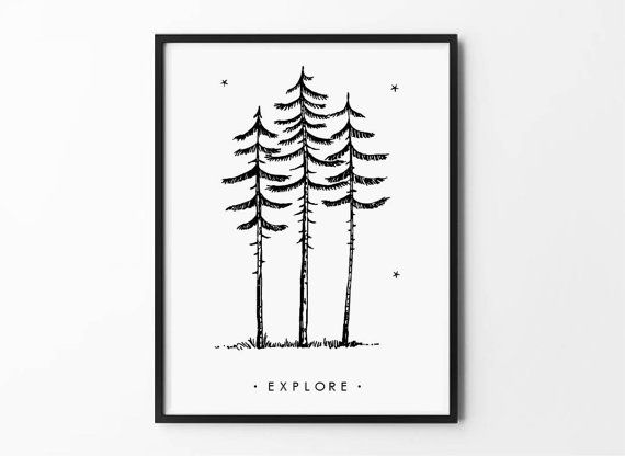 Our Explore Forest Minimalist design is printed on museum-quality posters made on thick, durable, matte paper. Perfect art for any urban space!
