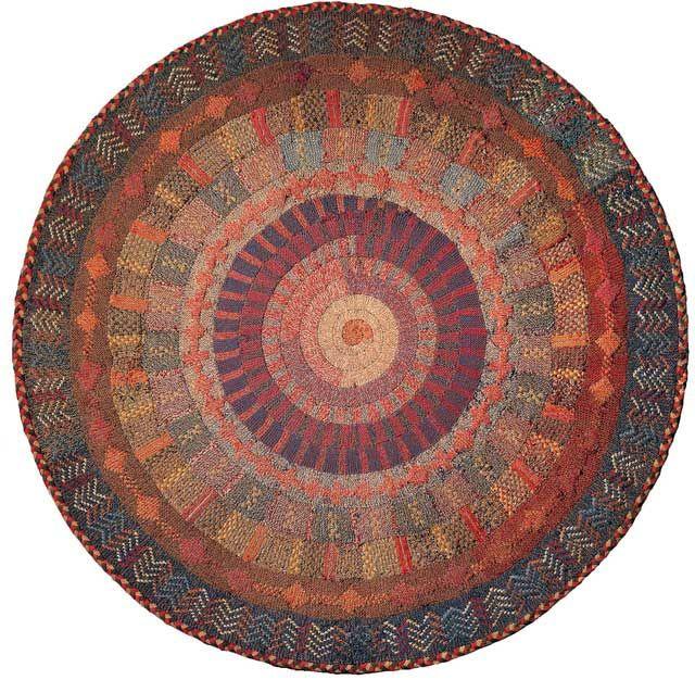 knit rug, American Folk Art Museum