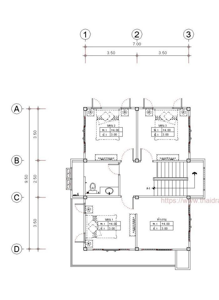 Compact Three Bedroom Double Storey House Design For A Small Lot Pinoy House Plans Double Storey House House Plans Double Storey House Plans