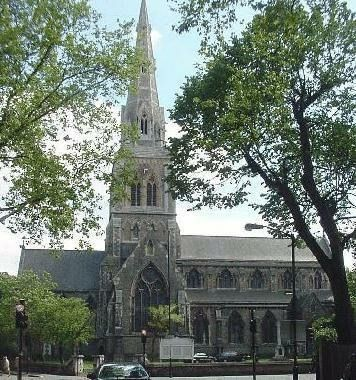 St Giles Church in Camberwell South East London England - I got married there in September 1989