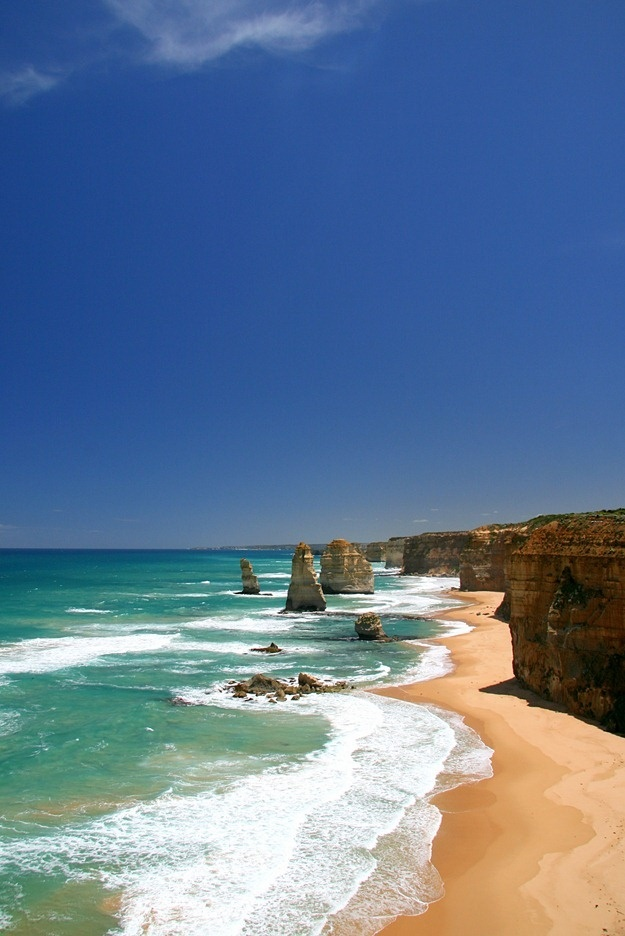 If you're visiting Australia, chances are you might take a road trip. Victoria's great ocean road is one bit of road that you should really consider adding to your itinerary, mostly because it features views like this