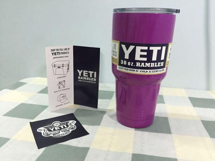 Colorful YETI Tumbler Rambler Cups Large Capacity Stainless Steel Tumbler Mugs Pink Blue Light Blue Orange Purple Light Green