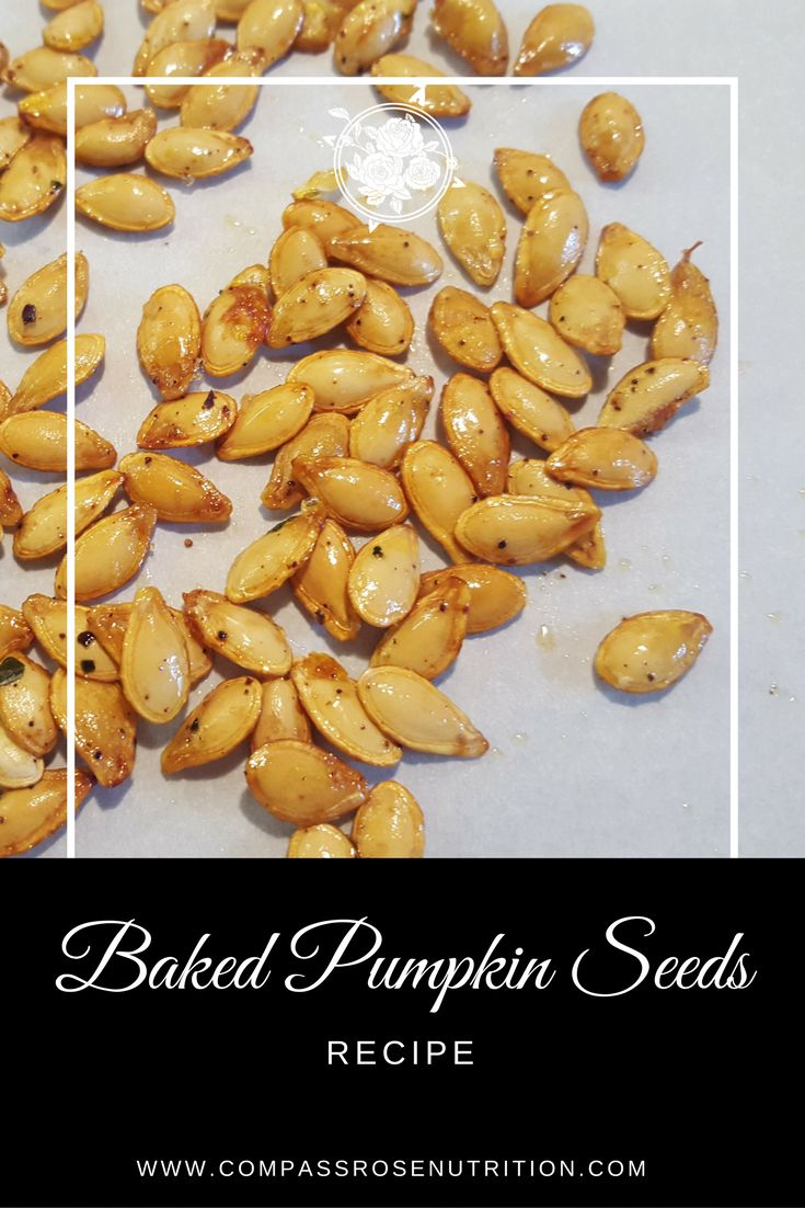 Easy Baked Pumpkin or Squash Seeds Recipe | Healthy snack | Easy baked seed recipe | Click on post for full recipe