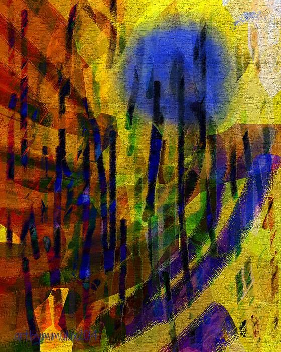 DANDELION BLUES  Digital Abstract Art by mimulux patricia no