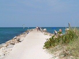 The Venice Florida Jetty, where we were married.