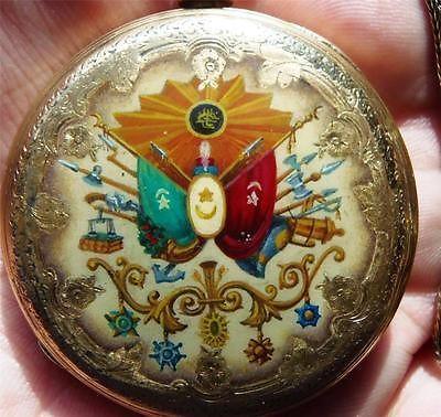 WOW-One-of-a-kind-18k-gold-enamel-Tobias-pocket-watch-awarded-by-Ottoman-Sultan