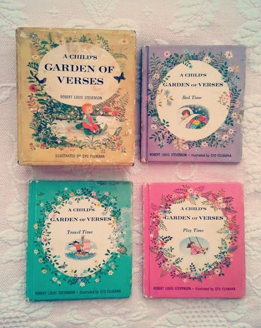 """""""A Child's Garden of Verses"""" illustrated Gyo Fujikawa. Awesome vintage copies!"""