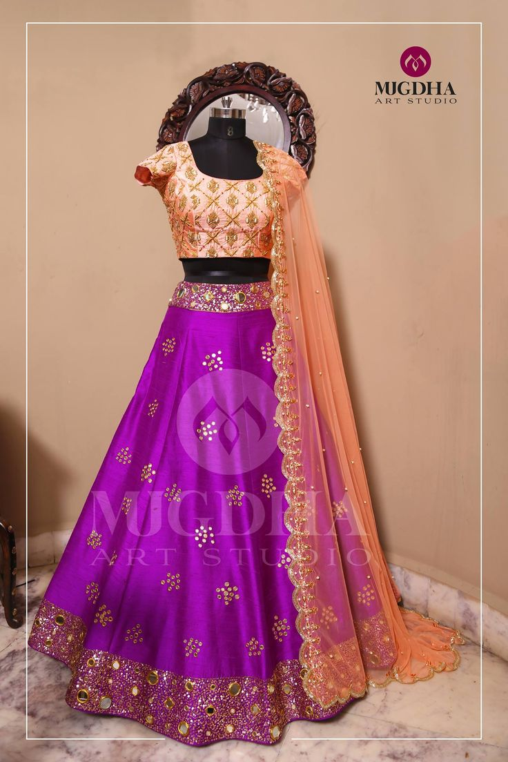 Here is the Mesmerizing Color Combination Lehenga From the Creative House of  Mugdha Art Stuido.Product code : LHG 253To Order  :+91 8142029190/ 9010906544 (whatsapp)For Call: 8899840840 (IVR)  23 March 2017