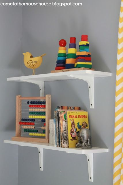 Gray and Yellow Playroom: The Reveal - welcometothemousehouse.com