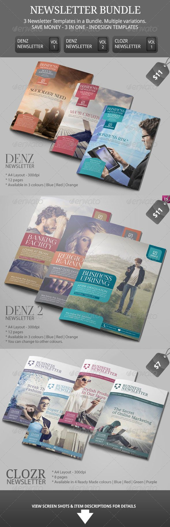 Best Newsletter Ideas   Indesign Templates Images On