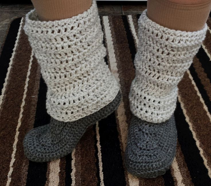 Fantastic Slipper Boots Crochet Pattern Ensign - Easy Scarf Knitting ...