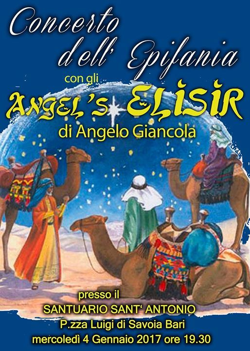 CONCERTO DELL'EPIFANIA con gli Angel's Elisir -Bari -
