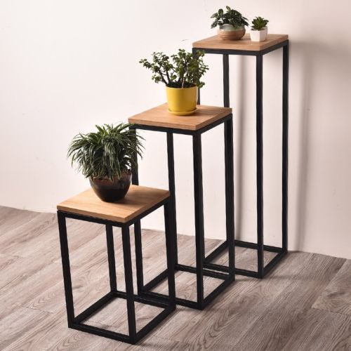 Metal Corner Table Storage Display Plant Stand 55cm 75cm 100cm Tall
