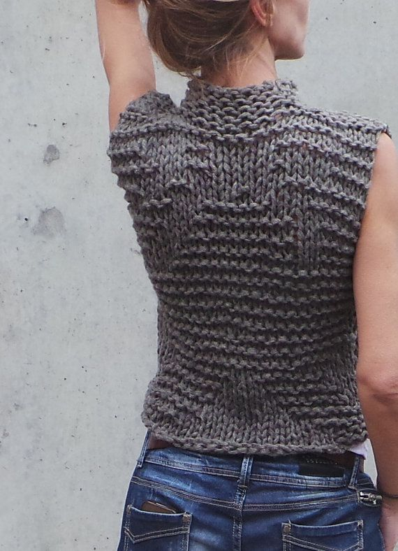 Brown khaki Bamboo tank/vest by ileaiye on Etsy
