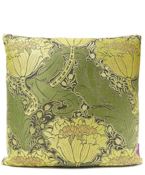 Introduce a hint of colour into neutral spaces with the Liberty Mary Arts Cushion.