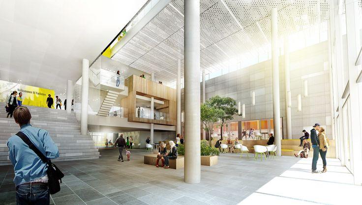 Town hall in Skanderborg  #townhall #lobby #atrium #danisharchitecture #scandinavianarchitecture #aarhusarkitekterne