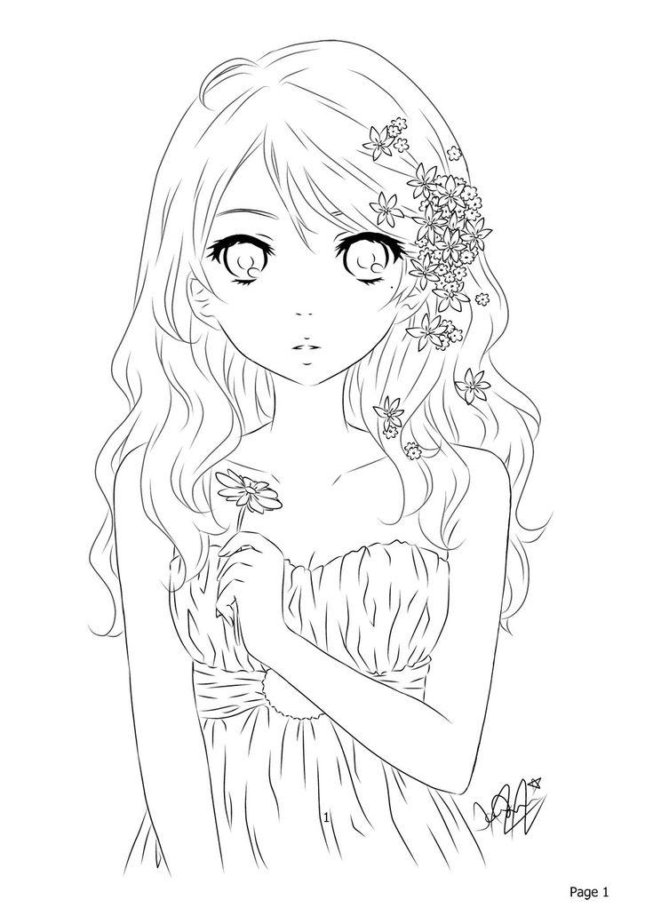 45 besten Anime Line Art Bilder auf Pinterest   Färben ...