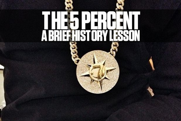 The Five Percent Nation medallion worn by hip hop moguls such as Jay Z and Jay Electronica tends to raise a bit of controversy. We unravel the history behind this piece and what it exactly means to be a part of this Five Percent Nation. Last week, at the Brooklyn Hip Hop Festival, Jay Electronica ga...