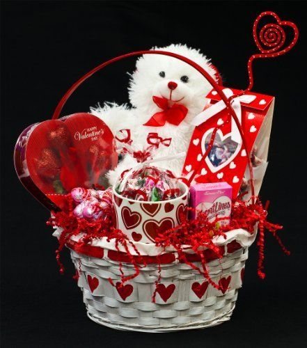 romantic valentines day gift basket for him