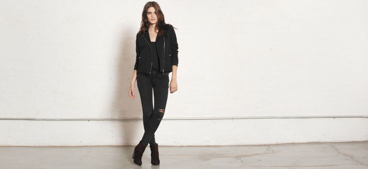 Rag and Bone Skinny Rock w/ holes $198