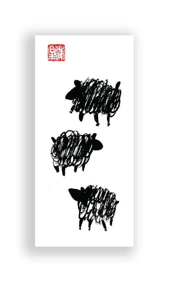 Year of the Sheep for the Chinese New Year Zodiac 2015 by ZenBrush