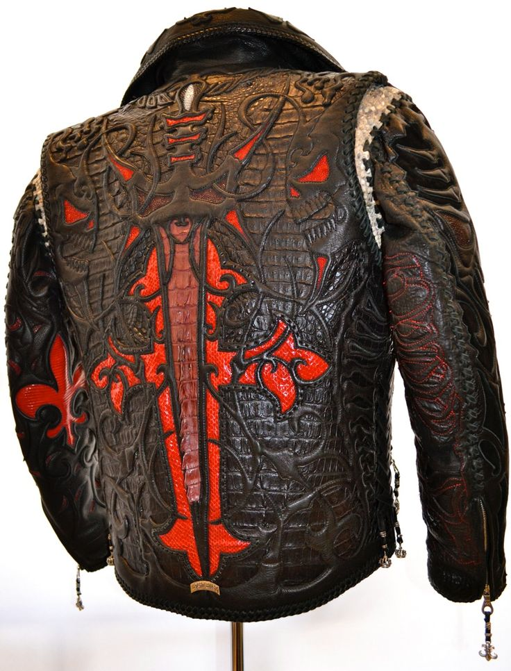 Just another leather jacket By Logan Riese leather n shit