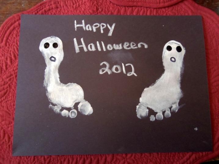 footprint halloween craft