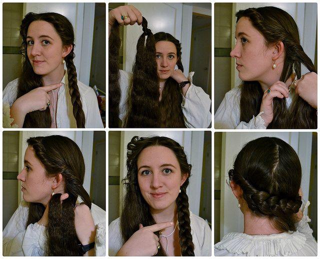 Tutorial on 16th century Italian hair: braids, false hair, hairtaping, and pincurling.
