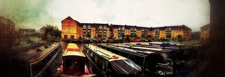 panorama of the marina in Apsley