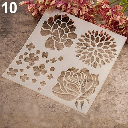 Fashion Painting Template Stencil Scrapbooking Album Cake Coffee DIY Art Decor-in Dessert Decorators from Home & Garden on Aliexpress.com | Alibaba Group