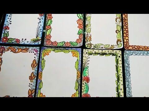 How to decorate borders of project files || #my creative hub - YouTube