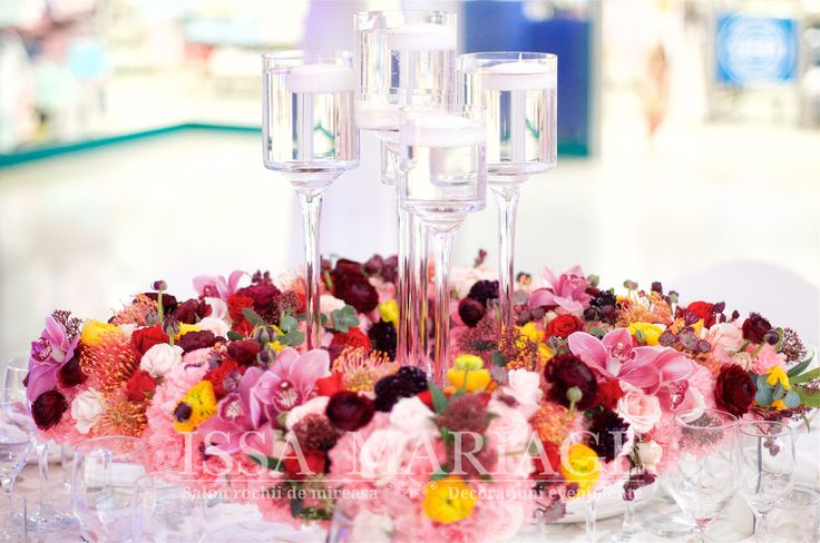 Aranjament floral nunta multicolor IssaEvents 2017