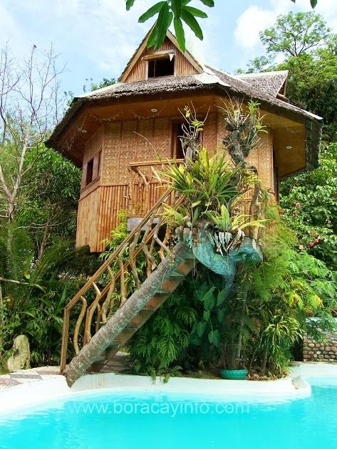 """Tropical Dreams: Our """"Tree house"""" in Laserna Valley near Boracay Island, Philippines. #treehouse"""