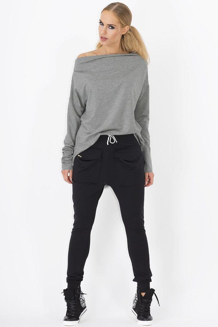 Spodnie Makadamia M141 dresowe - czarny Modne, dresowe spodnie damskie. ...  https://www.mega-ciuchy.pl/spodnie_makadamia_m141_dresowe_czarny