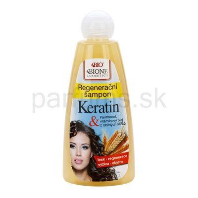 Bione Cosmetics Keratin Grain, regeneračný šampón pre všetky typy vlasov | parfums.sk